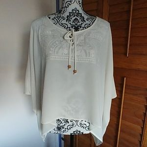 Forever 21 Hi Low Poncho Blouse